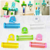 Sucker Hanging Rolling Squeezer Tube Toothpaste Dispenser Facial Cleanser Dispenser Home Commodity Bathroom Accessories