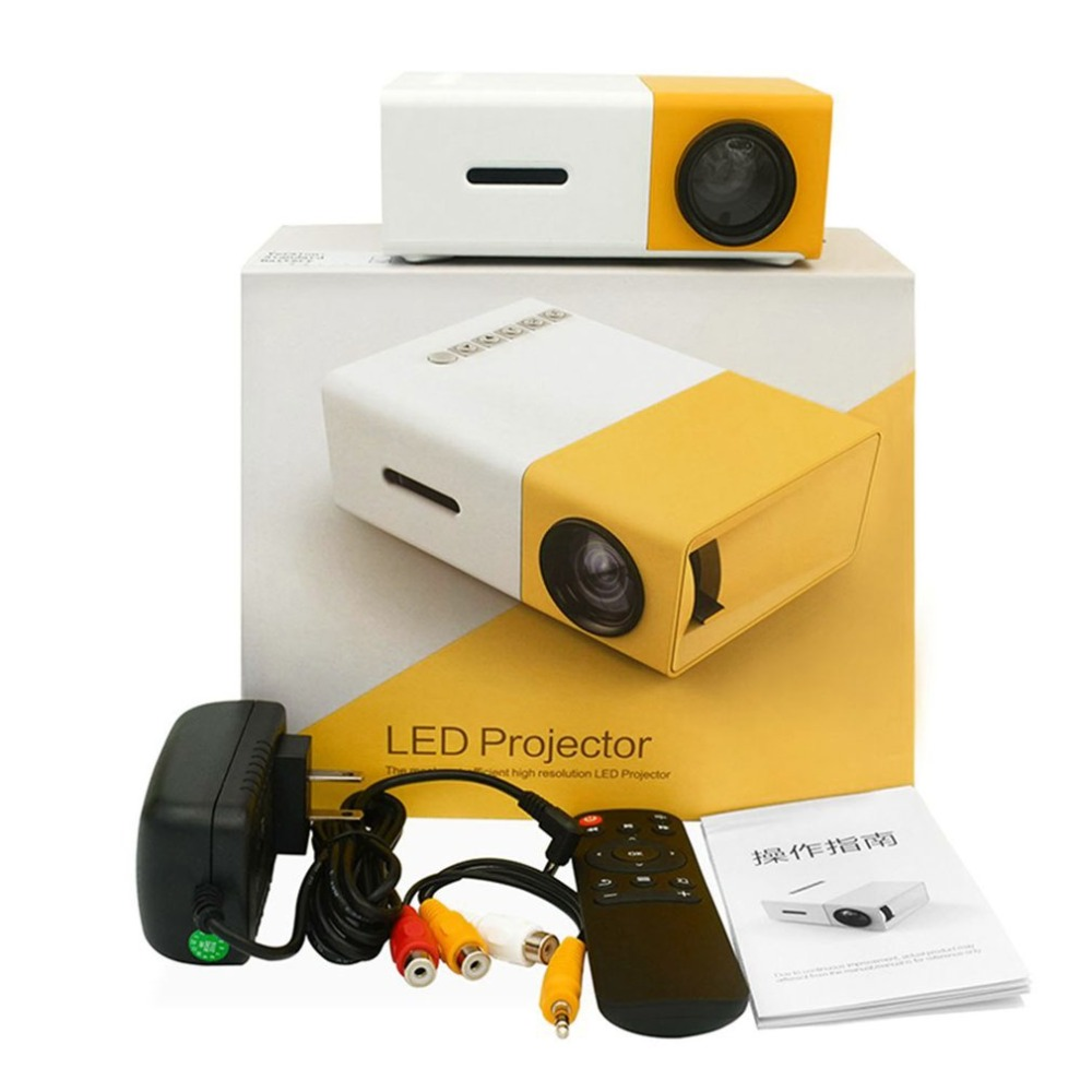 LED Mini YG300 Projector High Resolution Ultra Portable HD 1080P HDMI USB Projector Media Player Home Theater Beamer rd 814 led mini projector projector 320 x 240 portable projector 1080p for photo music movie home theater proyector pk yg300