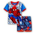 Kids Baby Clothe Spiderman 2016 Summer Children Sleepwear Short Popular Cartoon Pajamas Boys Pyjamas 100% Cotton Clothing Set