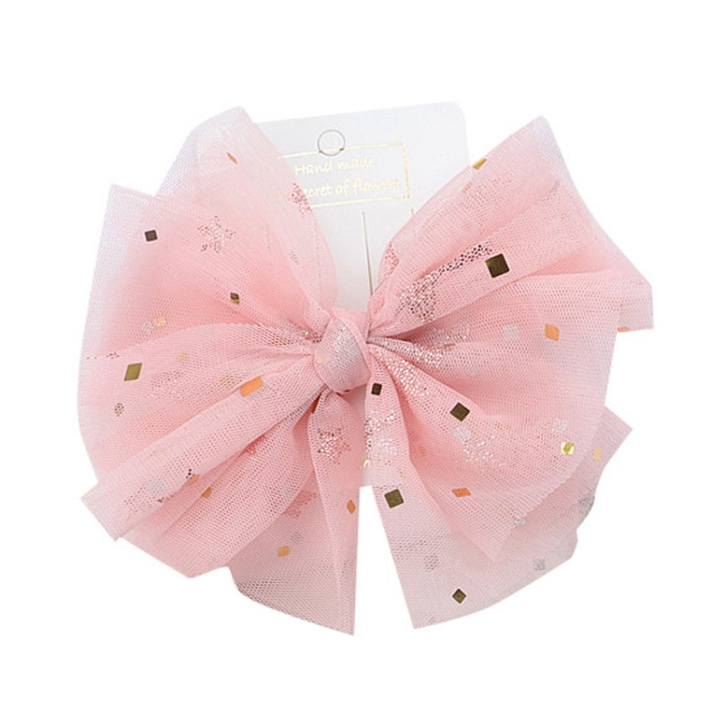 Girls Casual Hair Clip Children Hair Clips Baby Girl Mesh Bow Hairpin Kids Fashion Headwear Hair Accessories(China)