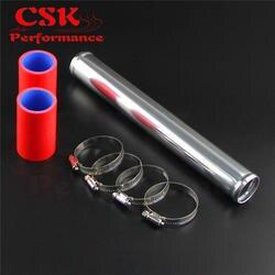 """38 мм 1,5 """"Алюминий промежуточное турбо охлаждение труба трубопровод, труба + силиконовый шланг комплекты зажимов черный/синий/красный"""
