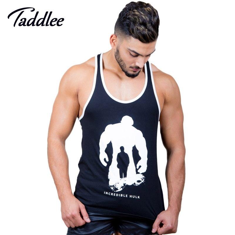 014980a012ec3c Taddlee Brand Men Tank Top Tees Shirts T shirt Sleeveless Cotton Casual  Stringer Singlets Fitness Bodybuilding Undershirt Muscle