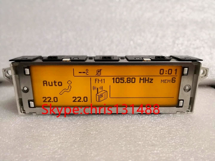 Top sell Screen support USB Dual zone air Bluetooth Display yellow monitor 12 pin for Peugeot