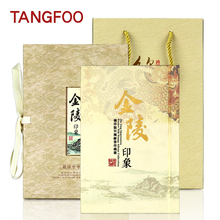 Chinese creative fancy Silk Book clear Stamp Collection Gift Nanjing tourism culture souvenir impression painting English book