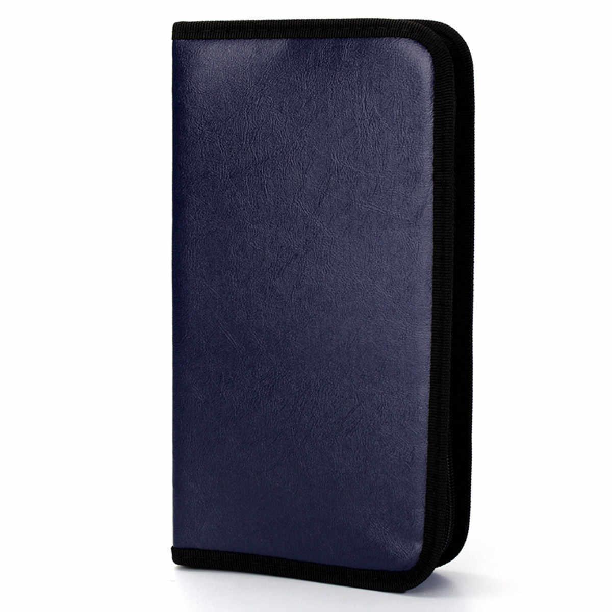 80 đĩa Lớn Di Động Dung Lượng Da PU CD DVD VCD Lưu Trữ Ốp Lưng Bao bì giá đỡ Cao cấp Màu Ngẫu Nhiên