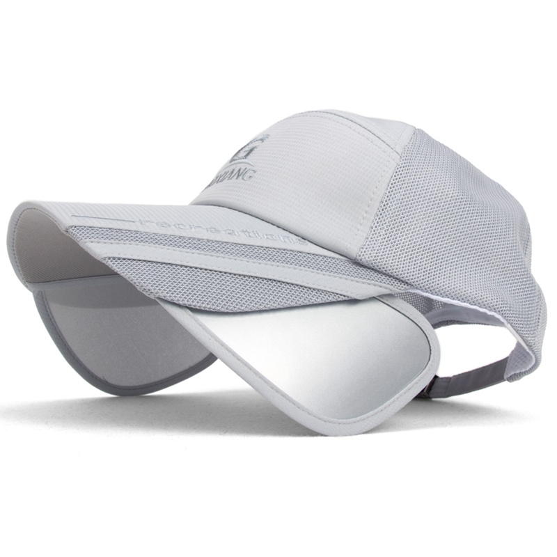 Chapéu de sol homens malha respirável chapéu mulheres grande chapéu de aba  boné de beisebol masculino exterior aba larga sunbonnet amantes bonés 9764d4038e5