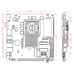 Image 5 - 저렴한 미니 메인 보드 지원 인텔 코어 i3 i5 i7 프로세서 임베디드 산업용 마더 보드 4xSATA XP/Win7/Win10 마더 보드