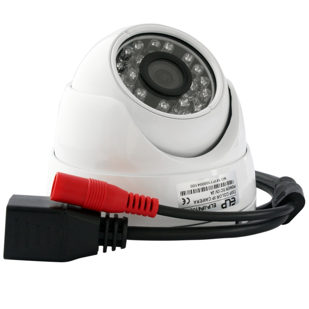 ФОТО ELP 720P Mini IR LED Day&Night HD Dome IP Camera, Dome Network Camera with Mic Audio Microphone