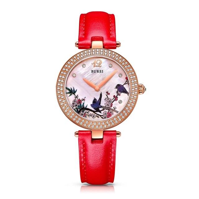 Extrêmement BUREI 13007 Suisse montre femmes de luxe marque Chinois style  YP15