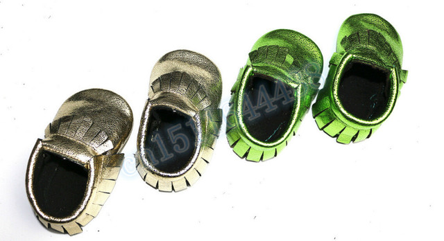 2015 baby shoes first walker toddler moccasins genuine leather baby moccains metallic fringe  boys/girls  moccains shoes