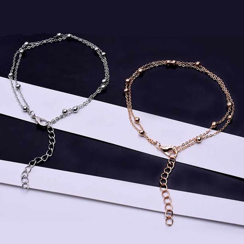 Luksusowe złoto/srebro kolor Chain Link bransoletka dla kobiet panie OL Style miedzi bransoletka z koralików biżuteria hurtowych tanie