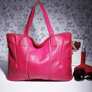 Image 5 - Zency 100% натуральная кожа сумка большая Вместительная женская сумка через плечо ретро сумка тоут Кошелек Высокое качество вместительные коричневые сумки для покупок