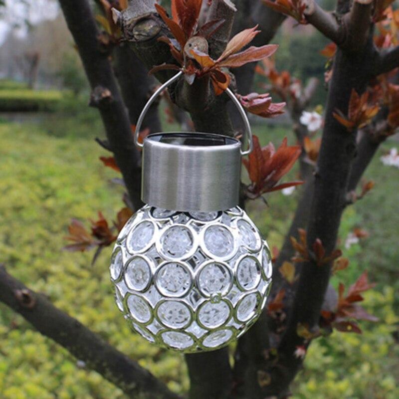 POTENCO Pfau Auge Solarlampe Outdoor Hängen Led-leuchten Garten Dekoration Zaun Solarbetriebene Lampen Bunte Straßenbeleuchtung