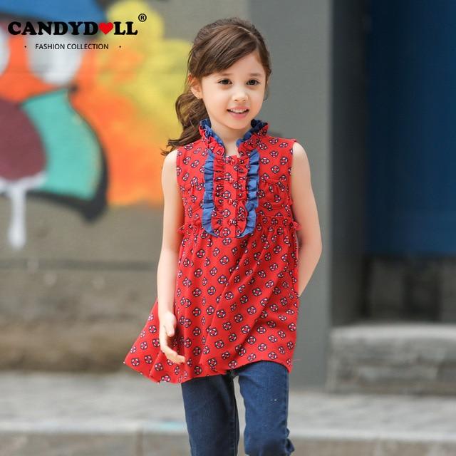 Flowermodels Candy Dolls Illusion: Candydoll Summer Children Girls Sleeveless Blouses Fashion