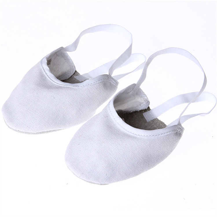 Sneakers Full Leather Rhythmic Gymnastics Shoes Woman Half Cut Shoes Foot Pointe Dance Shoes Exercise Shoes Cover Sports Pointe