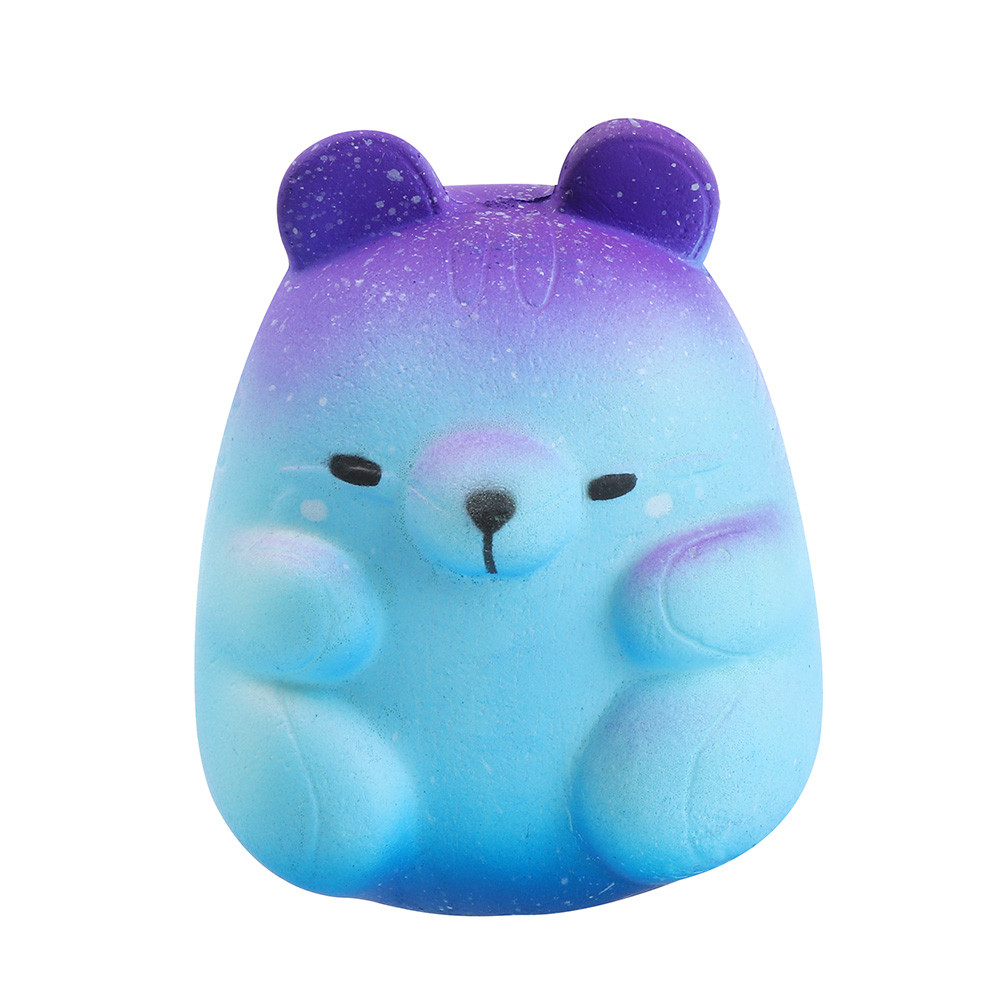 New Style 8cm Galaxy Hamster Squishies Slow Rising Squeeze Scented Stress Relieve Cartoon Toy Drop Shipping