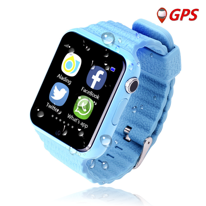 V7K Remote HD Camera Smart Safe GPS LBS Tracker Location Finder SOS Call Anti-Lost Monitor Watch Wristwatch for Kids Student