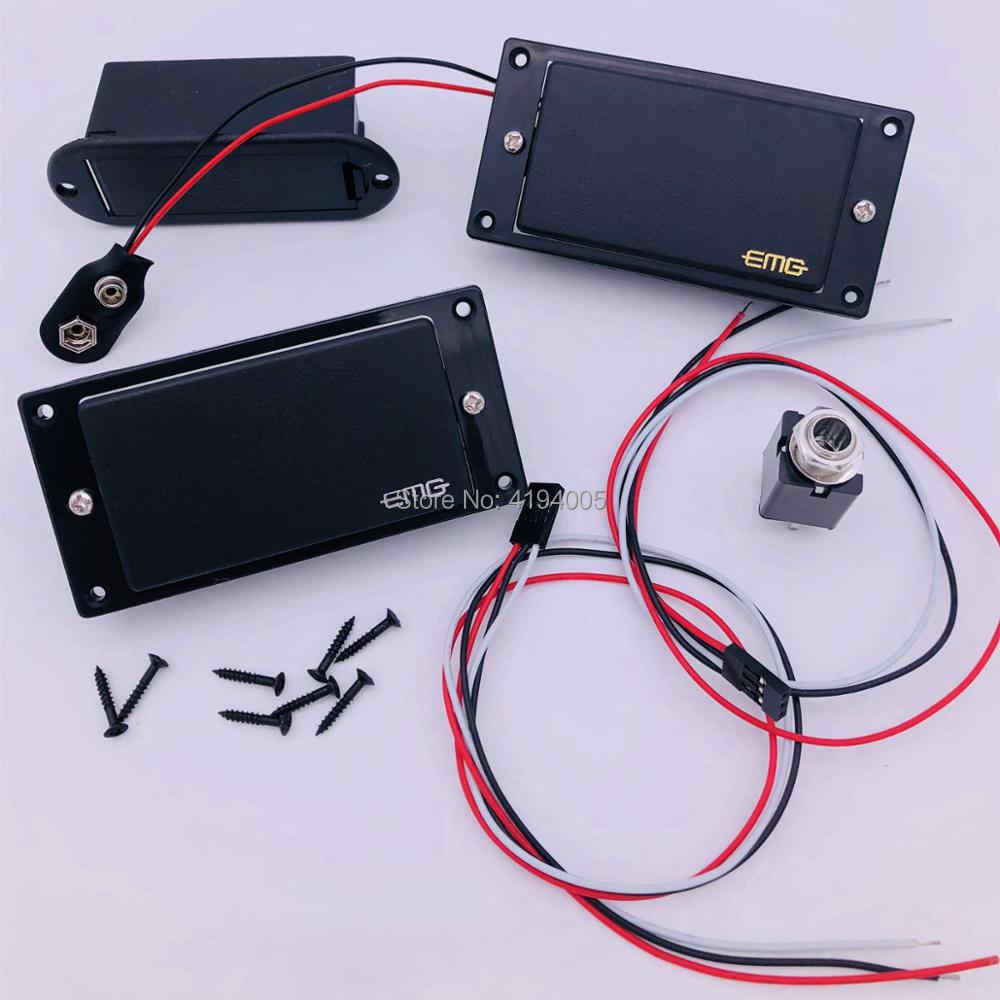 hight resolution of active emg 81 85 pickups high output emg electric guitar pickups whole set 2 pieces