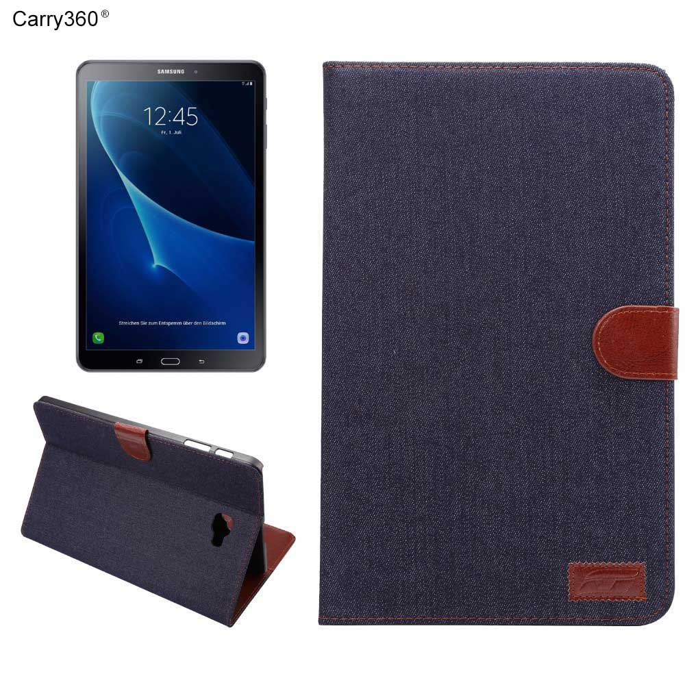 Carry360 Business Smart Stand PU Leather Tablet Cover Case For Samsung Galaxy Tab A 10.1T585 T580  SM-T580+screen+stylus luxury flip pu leather case cover for samsung galaxy tab a 10 1 2016 t580 t585 t580n t585n tablet stand cover with card slots