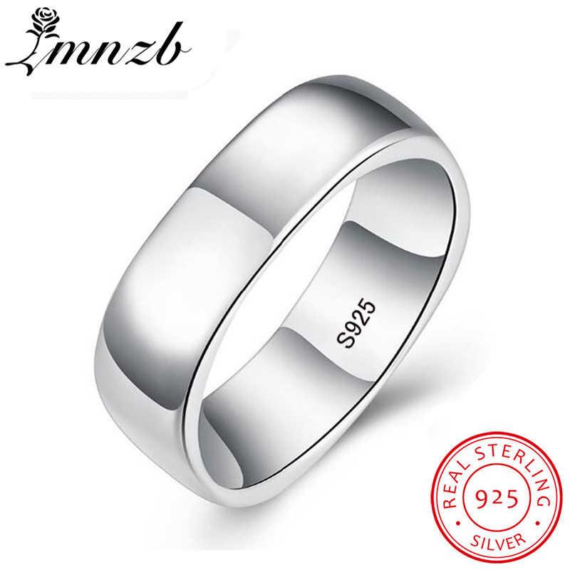LMNZB 100% Ursprüngliche Reale 925 Sterling Silber Ringe Einzigartige Quadratische Form S925 Stempel Finger Ringe Für Männer Frauen mit Geschenk-box LR062