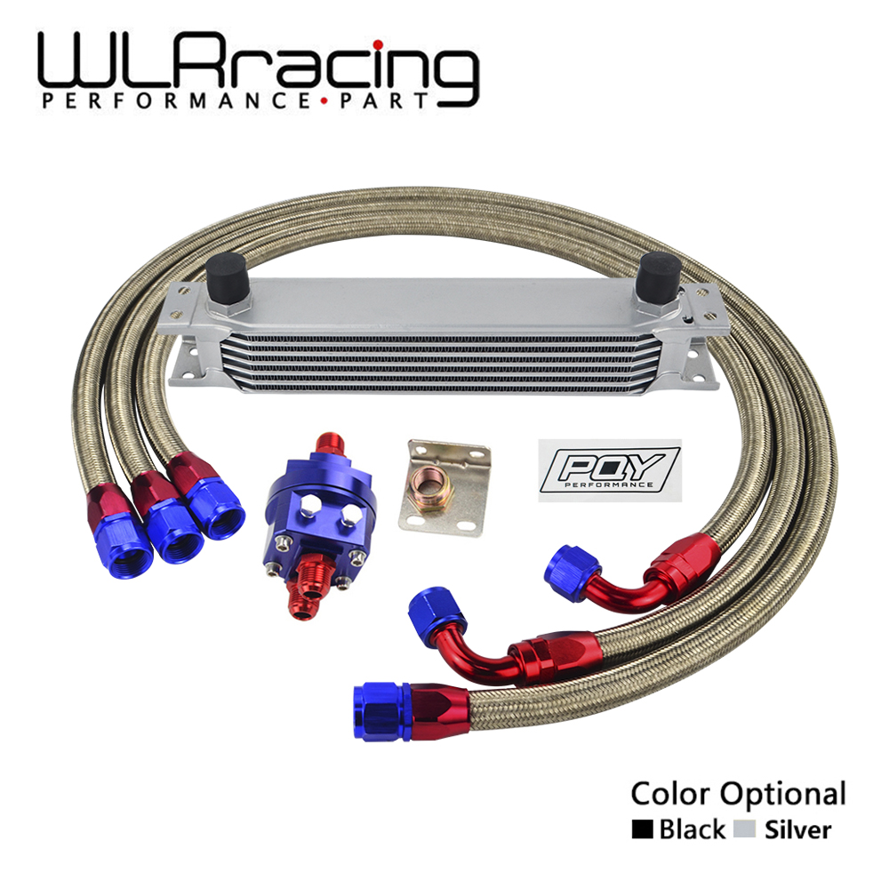WLR RACING - UNIVERSAL 7 ROW AN10 ENGINE TRANSMISS OIL COOLER KIT +FILTER RELOCATION WITH PQY STICKER AND BOX pqy racing universal 30 row an10 engine transmiss oil cooler kit filter relocation blue page 4