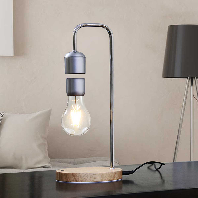 Dropshipping Magnetic Levitating Floating Bulb Desk Lamp for Unique Gifts Room Decor Night Light Home Office