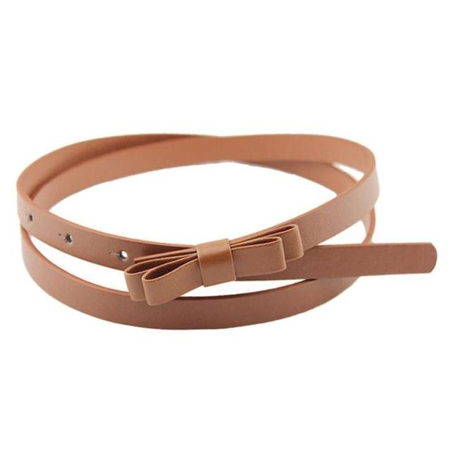 desire #50 New Fashion Dow Candy Thin Women Pu Leather Casual Belt Cummerbund For Girl 3
