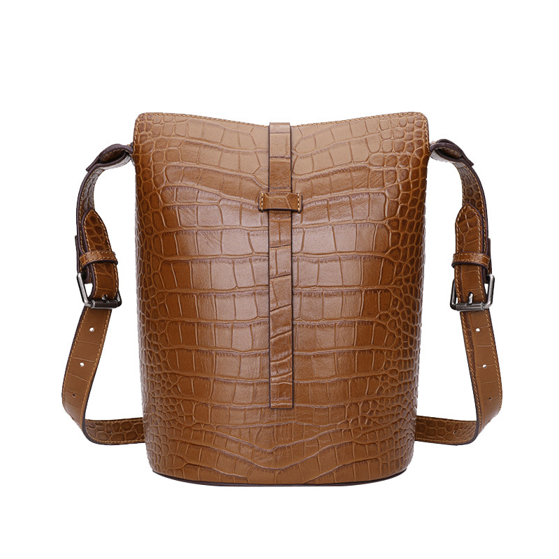 Genuine leather Shoulder bag Women 2019 crocodile pattern bucket bag leather composite women Messenger bag female handbagsGenuine leather Shoulder bag Women 2019 crocodile pattern bucket bag leather composite women Messenger bag female handbags