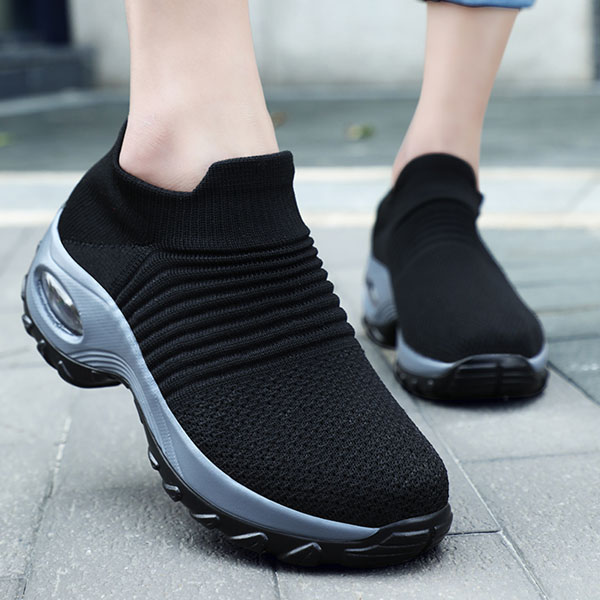 Chunky Black 2019 Sneakers Women Air Cushion Running Breathable Mesh White Sock Shoes Soft Sneaker For Walking Men's Sport Shoes