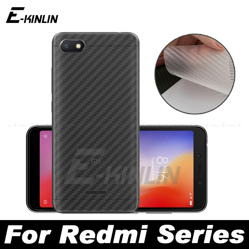 3D Carbon Fiber Back Cover Screen Protector Protective Film For Xiaomi Redmi K20 8A 8 7A 7 6A 6 Pro S2 4A (Not Tempered Glass)