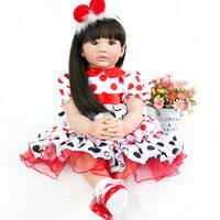 24 Inch bebe Dolls Reborn 60 cm Silicone Soft Realistic Princess Girl Baby Doll For Sale reborn babies doll Kid Birthday gift