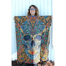 Sugar Skull Tapestry Wall Fabric Hippie Bohemia Wall Hanging Tapestry Psychedelic Tapiz Wandkleed Boho Decor Wall Blanket Picnic skull in fire wall hanging tapestry