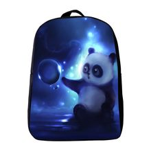 2017 New Arrivals Oxford 12 Inches Printing Animal Panda Kindergarten Backpack Small Baby School Bags Mini Infantile Schoolbag(China)