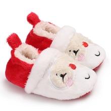 2019 Brand New Infant Toddler Newborn Baby Kids Boy Girl Winter Warm Snow Boot Xmas Soft Slipper Santa Crib Shoes brand new newborn toddler infant baby girl boy 100