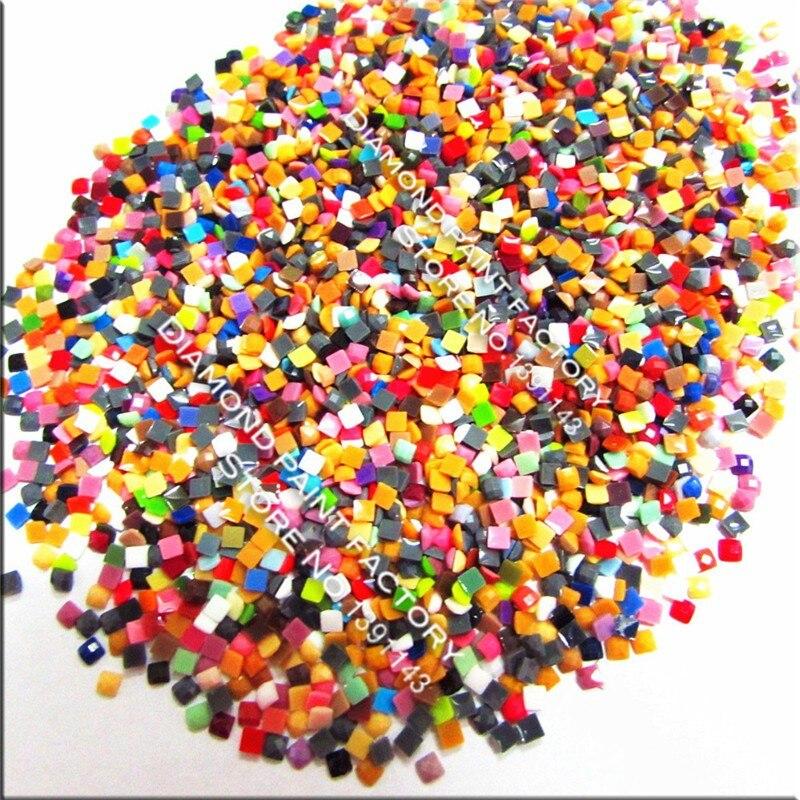 [Accessoire de peinture au diamant] gros diamant carré en résine 1.5 kg/sac 447 couleurs peuvent choisir la livraison gratuite