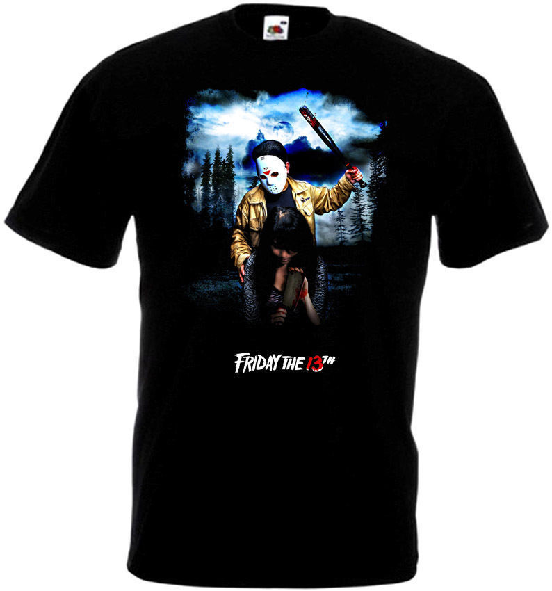 Friday The 13 v24 T-Shirt all sizes S-5XL BLACK