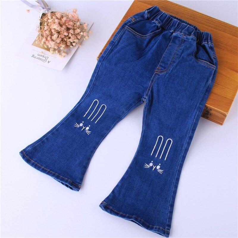 100% Wahr Y186722 Autum Mode Baby Mädchen Kleidung Für Mädchen Hosen Jeans Stickerei Boot Cut Kinder Kleidung Baby Hosen Für Mädchen Hosen