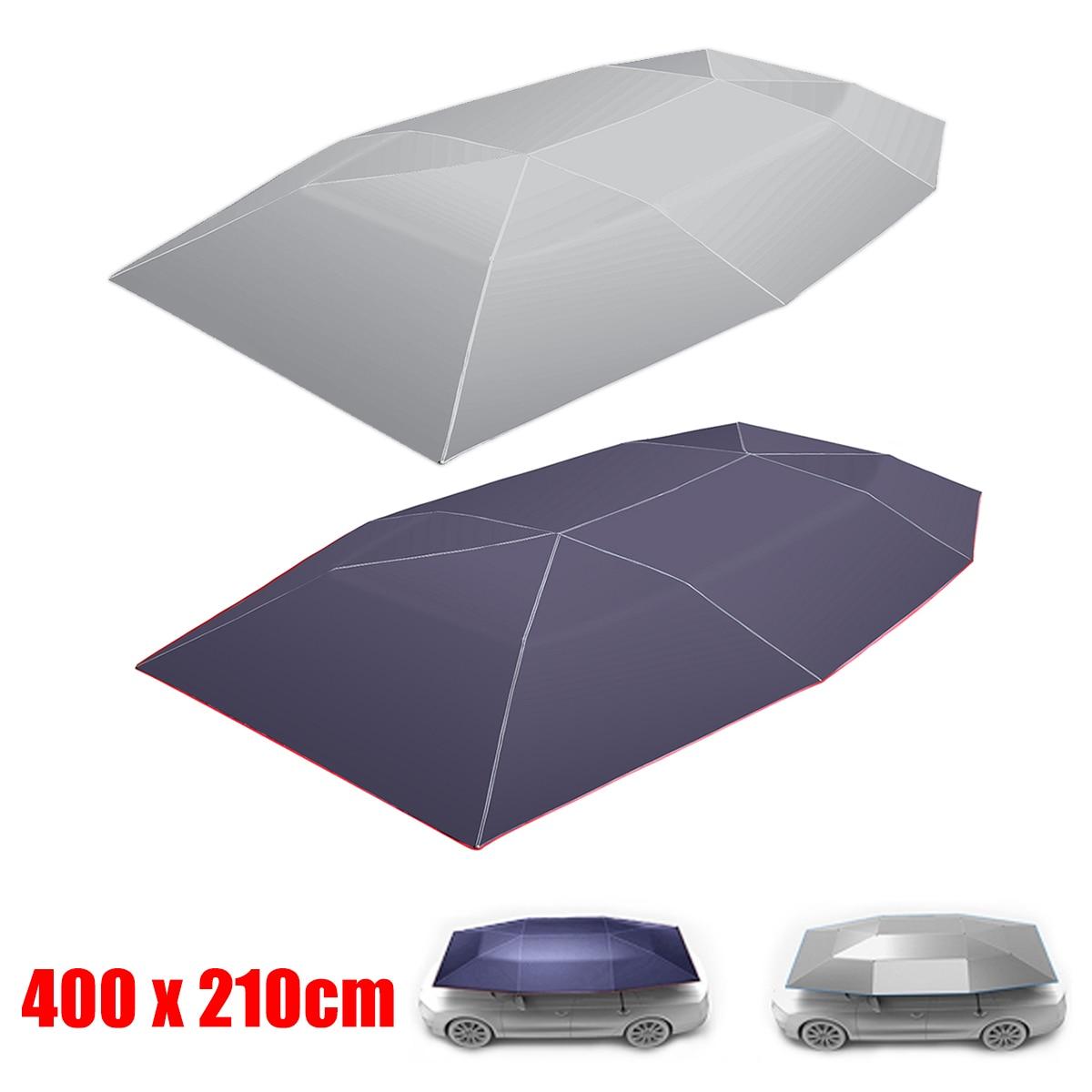 400x210 cm à distance automatique voiture parapluie parasol tente couverture de toit Anti-UV Protection chaude Protection extérieure ombre de soleil été