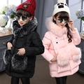 Female child wadded jacket outerwear medium-long winter thickening 2016 child cotton-padded jacket baby child cotton-padded