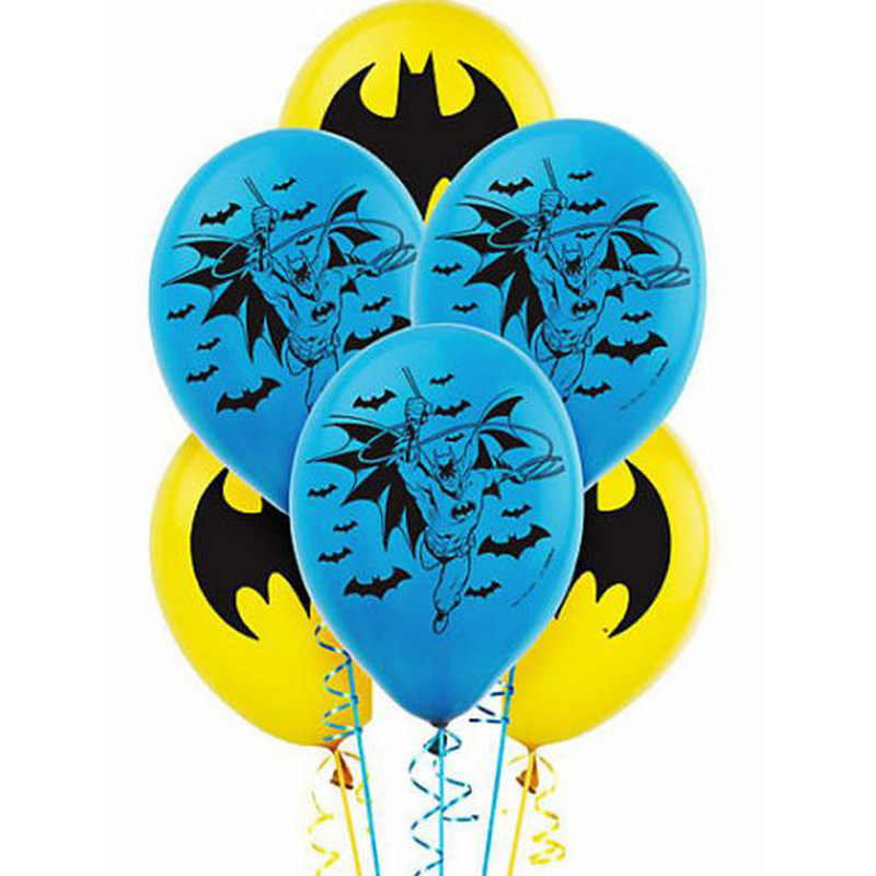 Wholesale 12pcs/lot Avengers Hero Batman Latex Balloons Happy Birthday Party Supplies Toys For Kids Air Inflatable Balloon