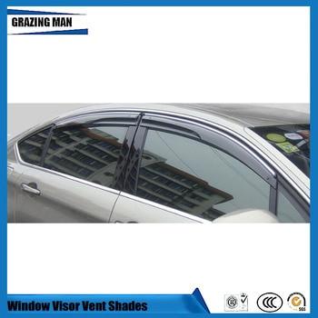 Sun visor Car accessories PP window Visor Vent Shades Sun Rain Deflector Guard 4PCS/SET for C5