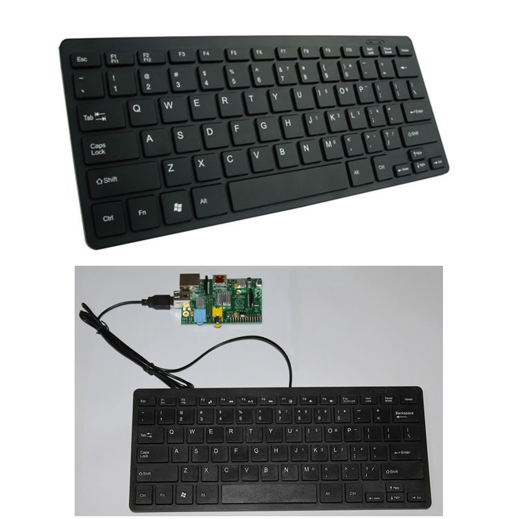 buy usb slim silent wired mini pc keyboard for the raspberry pi from reliable. Black Bedroom Furniture Sets. Home Design Ideas