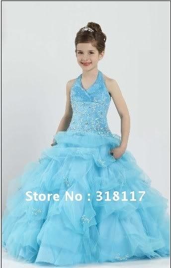 Kids 2012 Flower Girl Dress Girls Pageant Dresses Prom