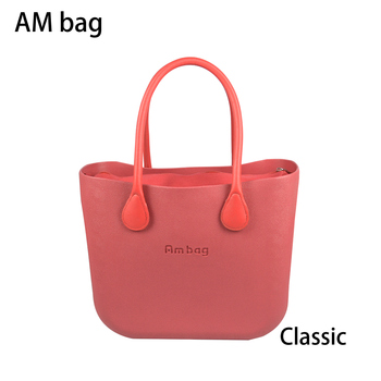 AMbag Obag O bag Style Waterproof  Classic Ambag Women's DIY EVA Handbag with Lining Insert Colorful Leather PU Handles