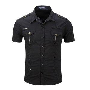 Image 3 - Chemise dété pour homme, 2019 coton solide, à la mode, décontracté, 100%, décontracté, chemise de grande taille