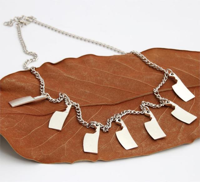 Tibetan Silver Kitchen Knife Necklace
