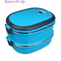 Multilayer Stainless Steel Insulation Lunch Bento Wholesale Superior Quality Hot Box Food Container Handle Free Shipping