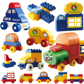 Boys Girls Baby Toys Diy Car &Train Model Big Brick Compatible With Big Blocks Building Blocks Educational Toys For Kids educational toys model blocks 337pcs express car building blocks small particles diy action figure toys best gift for kids