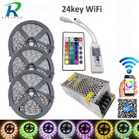 15M RGBW 5050 LED Strip Light IP20 DC12V SMD 60Leds M 300 LEDS Flexible Light Strips