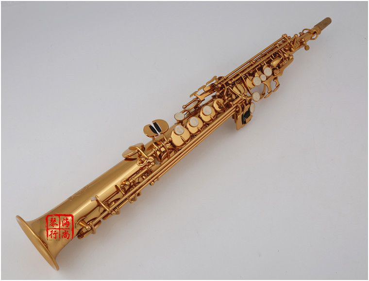 New Brand Woodwind B Flat Soprano Saxophone KUNO KSS-901 Brass Gold Lacquer Sax With Straight Curved Mouthpiece Saxofone
